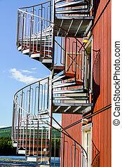 螺旋, 現代大樓, 樓梯