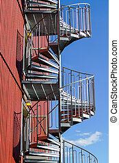螺旋, 現代, 樓梯, 建築物