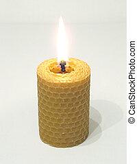 螺旋, 蠟燭