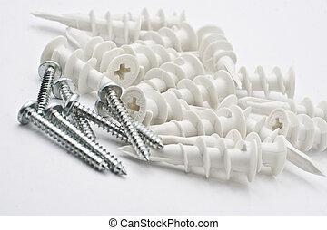 螺絲, 由于, 乾燥, 牆, 錨
