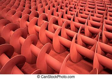 螺絲, 金屬, 紅色