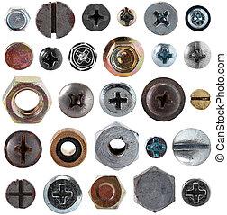 螺絲, 頭, 堅果, 彙整, 螺栓