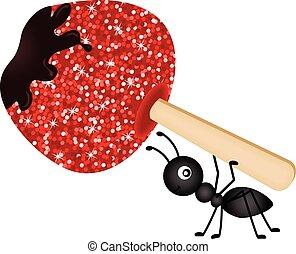蟻, 届く, アップル, キャンデー状である