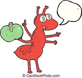 蟻, 泡, スピーチ, アップル, 漫画