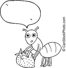蟻, 泡, スピーチ, ベリー, 漫画