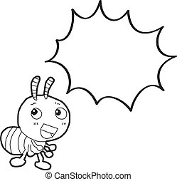 蟻, 泡, スピーチ, 漫画