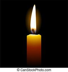 蠟燭, 上, 黑色的背景