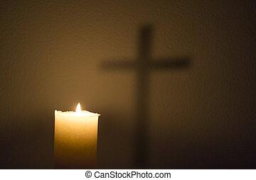 蠟燭, 以及, the, 產生雜種