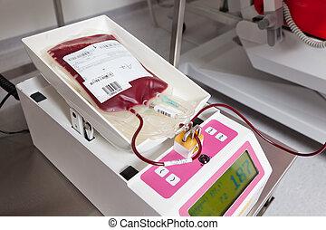 血液, 從, the, 血液, 捐款, 在, 血液, 實驗室