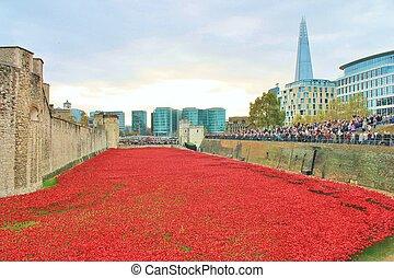 血液, 清掃, 土地, 以及, 海, ......的, 紅色