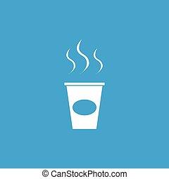 行きなさい, アイコン, コーヒー, 白