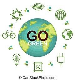 行きなさい, ポスター, エコロジー, 緑