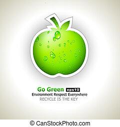 行きなさい, リサイクルしなさい, フライヤ, 緑