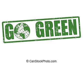行きなさい, 切手, 緑