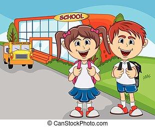 行きなさい, 学童, 漫画