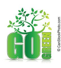 行きなさい, 木, 概念, 緑