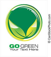 行きなさい, 概念, backgroud, 緑