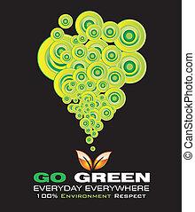 行きなさい, 環境, 緑, カード