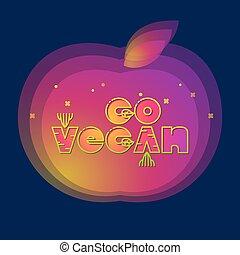 行きなさい, 碑文, スタイル, 漫画, vegan.