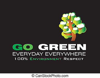 行きなさい, 緑, カード, テンプレート
