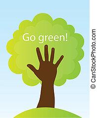 行きなさい, 緑