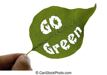 行きなさい, 緑, メッセージ, 葉