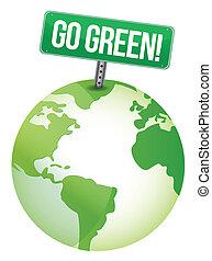 行きなさい, 緑, 印