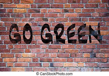 行きなさい, 緑, grafitti