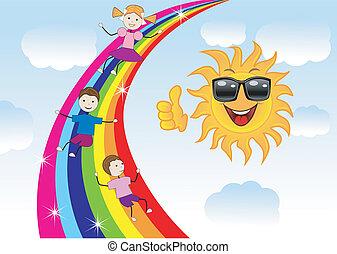 行きなさい, 虹, ドライブしなさい, 子供