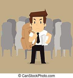 行きなさい, 袋, 届く, 仕事, ビジネスマン
