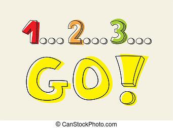 行きなさい!, countdown:, 1, 2, 3