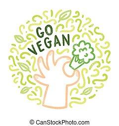 行きなさい, doodles, vegan