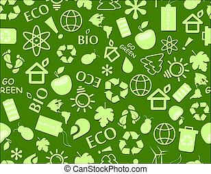 行きなさい, eco, 緑, seamless, パターン
