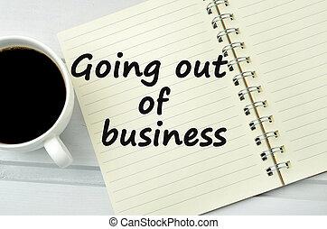 行く, ビジネス, 言葉, から