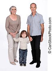 行く, 祖父母, 孫娘, ∥(彼・それ)ら∥, 歩きなさい