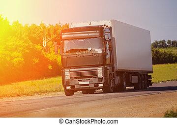 行動, 卡車, 高速公路