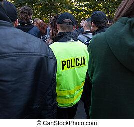 行動, 通り, 警察