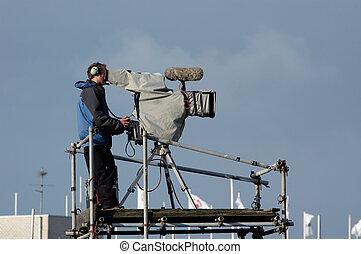 行動, camera-man