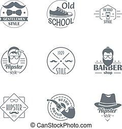 行家, 世界, 標識語, 集合, 簡單, 風格