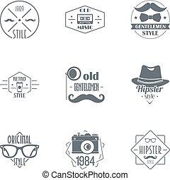 行家, 標識語, 集合, 簡單, 風格
