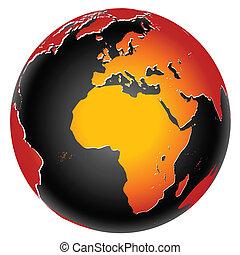 行星地球, 全球, 圖象, 世界