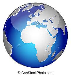 行星, 世界, 全球, 地球, 圖象