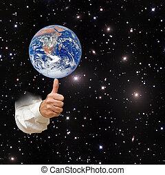 行星, 元素, 形象, 地球, nasa, 供给, finger., 这