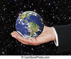 行星, 元素, 形象, 地球, nasa, 供给, palm., 这