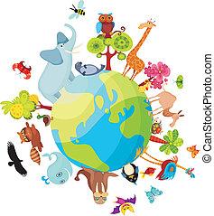 行星, 动物