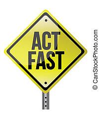 行為, 速い, 黄色の符号