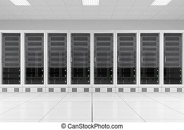 行, ......的, 數据, 齒條, 在, 服務器空間