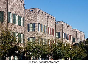 行, ......的, 新, 磚, townhouses