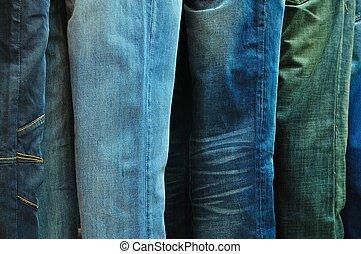 行, ......的, 牛仔褲