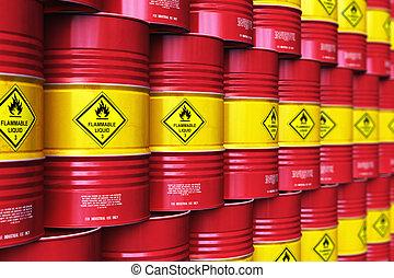 行, 組, 儲存, 油冬冬地敲, 倉庫, 堆積, 紅色